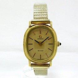 中古 オメガ デビル 時計 腕時計 レディース 手巻き ゴールド文字盤