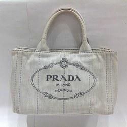 中古 プラダ PRADA ミニカナパ ホワイト バッグ ハンドバッグ レディース