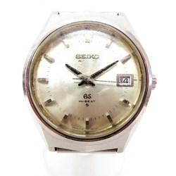 中古 セイコー グランドセイコー ハイビート 6145-8050 3面カットガラス 自動巻き 時計 腕時計 メンズ