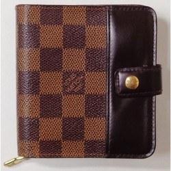 中古 ルイヴィトン Louis Vuitton ダミエ コンパクトジップ N61668 財布 二つ折り財布 ユニセックス