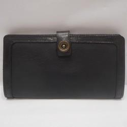 中古 ユニゾンデプト 二つ折り長財布 ブラック レザー メンズ